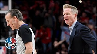Steve Kerr Ejected In Warriors' 4th Quarter Implosion Vs. Blazers | NBA Highlights