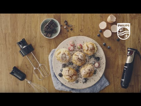 ProMix Hand blender: Cream puffs made at home with the Whisk and Double Mixer | Philips