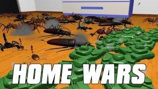 Home Wars - Army Men Vs Massive Bug Army!