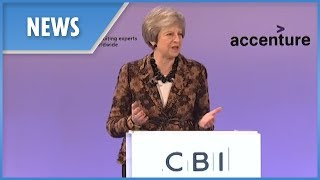 Theresa May tells CBI her Brexit deal