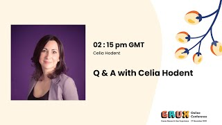 QnA with Celia Hodent, Consultant, hosted by Emma Varjo