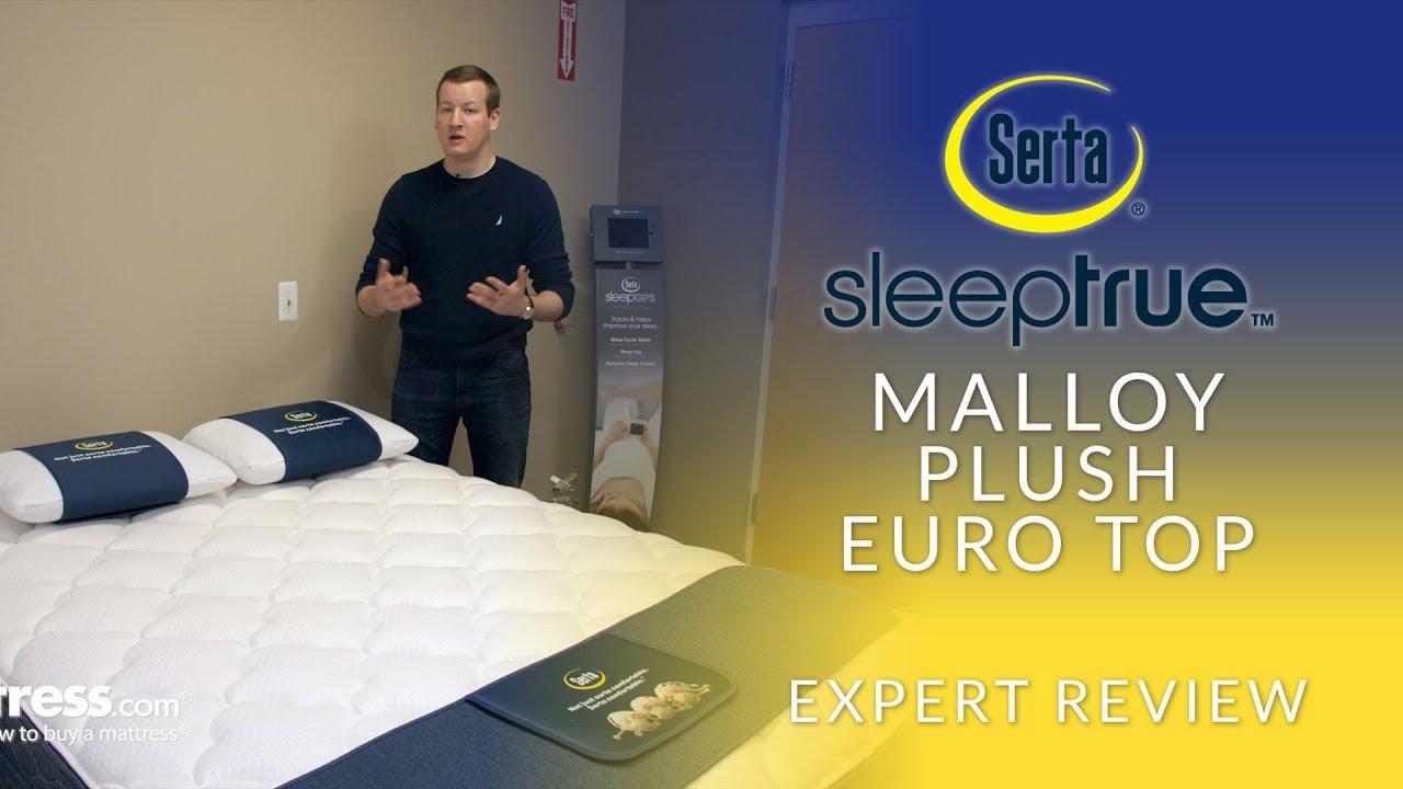 Queen Serta Sleep True Malloy Plush Euro Top Mattress