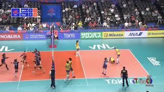ไทย vs บราซิล วอลเลย์บอลหญิง เนชั่นส์ ลีก 2019