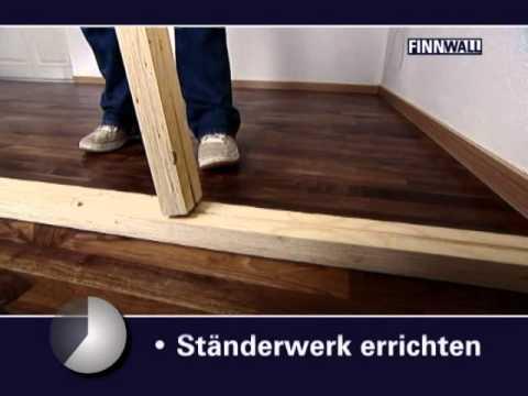 Finnwall Holz-Rahmensystem Montagefilm