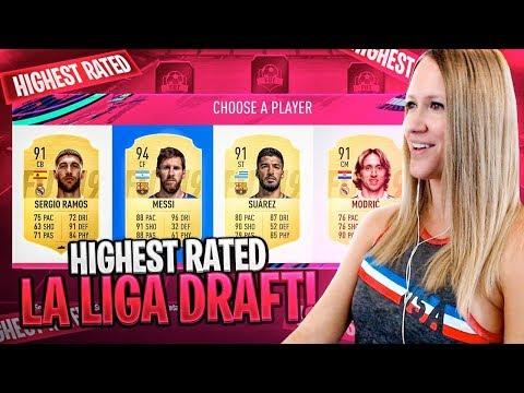 HIGHEST RATED LA LIGA FUT DRAFT CHALLENGE! FIFA 19