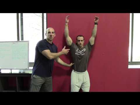 backtowall shoulder flexion  exercise