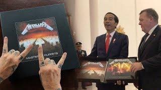 Presiden Jokowi Rela Bayar Mahal Demi Miliki Album Metallica Hadiah PM Denmark yang Ditahan KPK