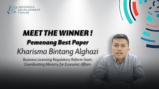 IDF 2019 Meet The Winner - Pemenang Best Paper Kharisma Bintang Alghazi