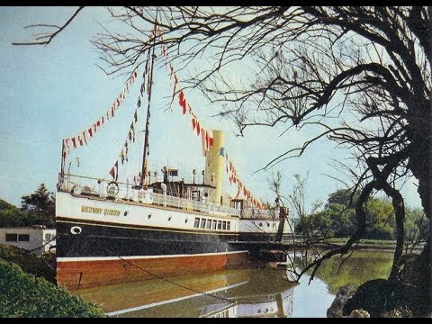 Paddle Steamer Medway Queen at Binfield Marina Isle of wight 1967.
