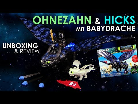 Playmobil ® Dragons 3 - Ohnezahn & Hicks mit Babydrachen / Toothless - Unboxing & Review