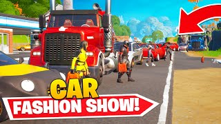 The FIRST CAR FASHION SHOW In Fortnite...