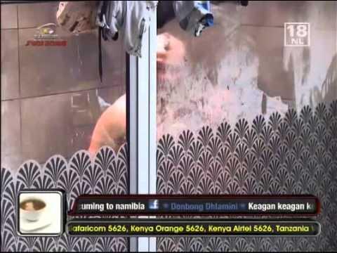 BigBrotherAfrica7 TaliaKeagan Shower Gets Intimate