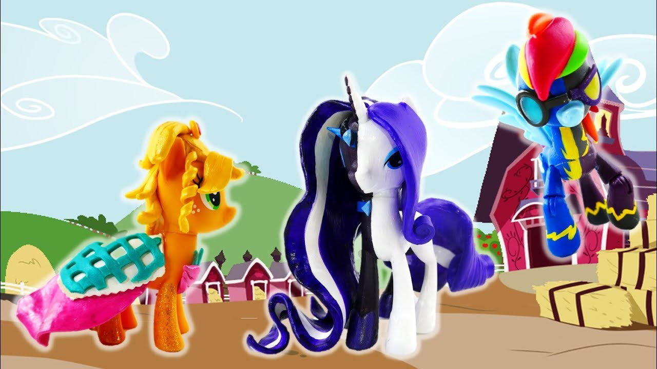 Compilation MLP Split Pony Custom - Rarity Rainbow Dash Applejack