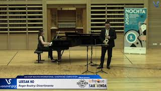 LEESAK KO plays Cello Divertimento by Roger Boutry