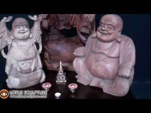 SOLD Standing Fat & Happy Buddha Statue 20