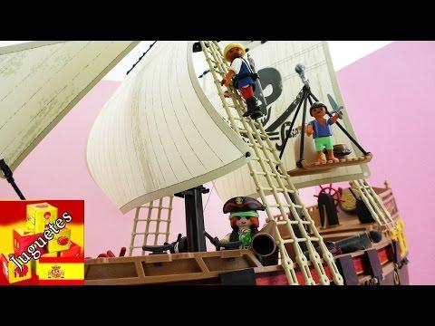 PLAYMOBIL PIRATA - Armando el barco pirata de Playmobil (Demo en español)