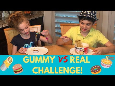 Gummy VS Real Food Challenge!
