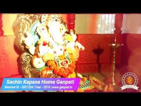 Sachin Kapase Home Ganpati Decoration Video