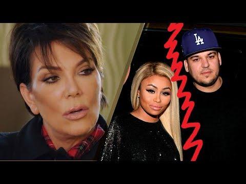 Kris Jenner ANGRY at Rob Kardashian Over Blac Chyna Feud: