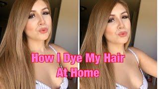 HOW I DYE MY HAIR LIGHT BROWN / DARK BLONDE AT HOME!!
