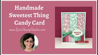 🔴Handmade Sweetest Thing Candy Card
