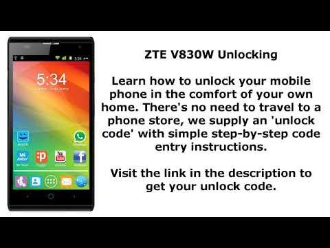 Unlock ZTE Blade Apex - SIM Network Unlock PIN - смотреть