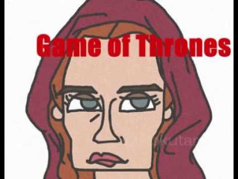 illustration | Red woman Melisandre in Game of Thrones