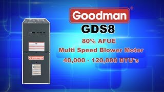 GDS8 Series 80% AFUE Goodman Gas Furnace