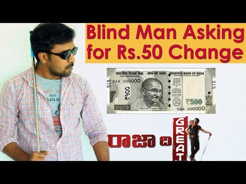 Blind Man Social Experiment in Hyderabad | Asking for Rs.50 Change | Raja The Great | FunPataka
