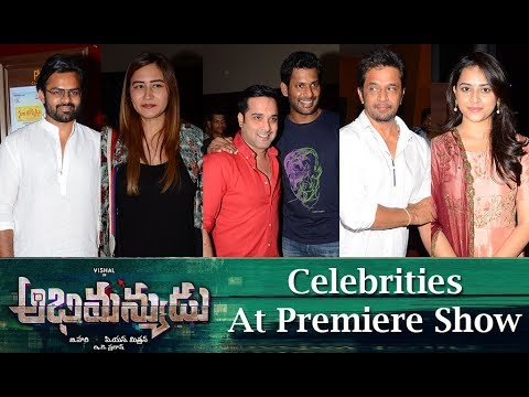Abhimanyudu Movie Team at Premiere Show