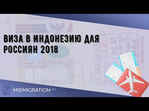 Виза в Индонезию для россиян 2018