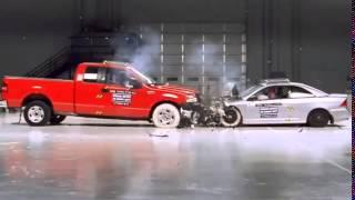 Ford F150 and Honda Civic Лобовое столкновение и краш тест