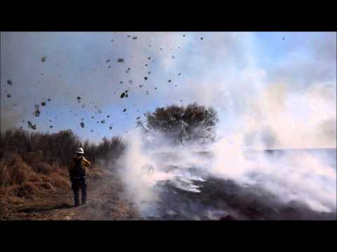 What happens when a tornado (dust devil) hits a wildfire? It looks like the apocalypse
