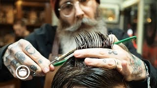 Scissor Cut Short Back And Sides Mens Haircut