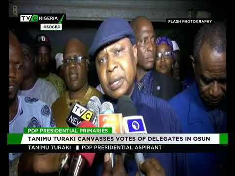 Kabiru Tanimu Turaki, SAN canvasses votes of delegates in Osun