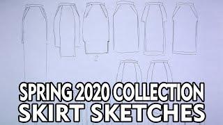 Fashion Design A Collection - Spring 2020 - Skirt Sketches