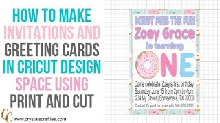 How To Make Invitations In The Updated Cricut Design Space