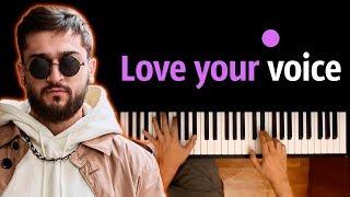 Jony   Love Your Voice ● караоке | PIANO_KARAOKE ● ᴴᴰ + НОТЫ & MIDI