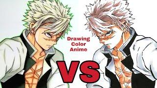 Sanemi Shinazugawa  - (Demon Slayer: Kimetsu no Yaiba) - Sanemi Shinazugawa / Kimetsu no yaiba / Demon slayer / Drawing color anime