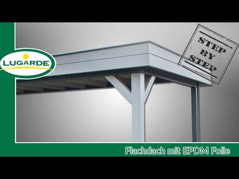 Gartenhaus bauen: Flachdach mit EPDM | Lugarde