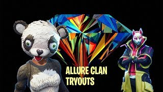 Fortnite | Clan Tryouts | ALLURE Clan | *PRO* 11 Year Old