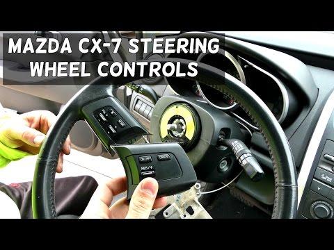 MAZDA CX-7 STEERING WHEEL VOLUME CRUISE RADIO CONTROLS CX7