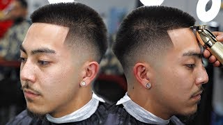 HAIRCUT TUTORIAL: MID LOW FADE | HOW TO SHAPE STRAIGHT HAIR