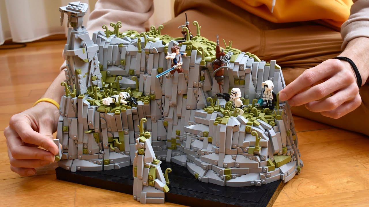 TIMELAPSE: LEGO Star Wars MOC Temple Cliff on Bogano: Jedi Fallen Order lego moc Speed build