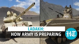 Ladakh | Tanks, combat vehicles: Indian Army ready to counter China amid tension - Download this Video in MP3, M4A, WEBM, MP4, 3GP