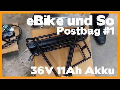 Ebike und So - Postbag #1 Gepäckträger E Bike Akku 36V 11Ah Akku und Ladegerät - Review