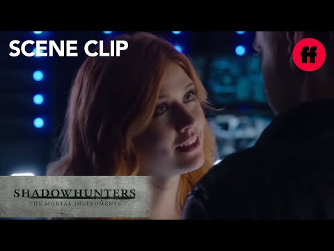 Shadowhunters   1x07 Clip: Clace Kiss   Freeform