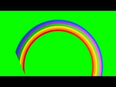 the rainbow appearing green screen  hdgreenstudio footage