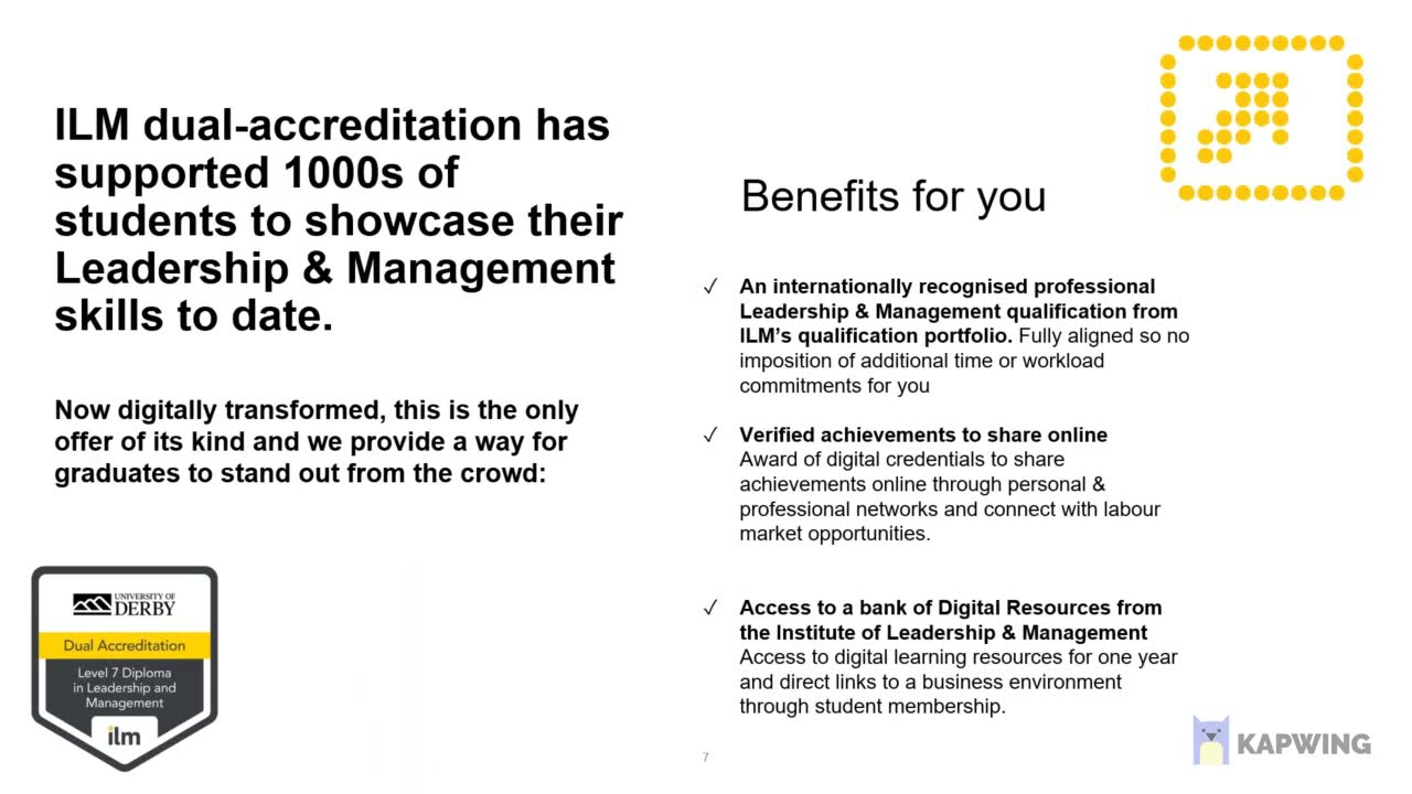the benefits of studying the online Strategic Management MSc dual award programme