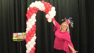 Giant Balloon Candy Cane DIY Tutorial